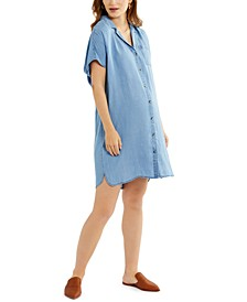 Cotton Chambray Maternity Dress