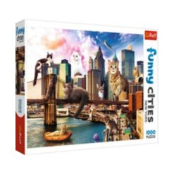 Trefl Jigsaw Puzzle Cats in New York, 1000 Pieces