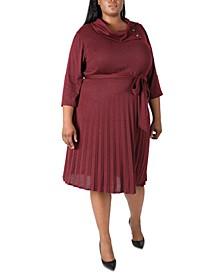 Plus Size Cowlneck Knit Dress