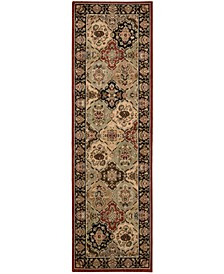 """Home Lumiere Persian Tapestry Multicolor 2'3"""" x 7'9"""" Runner Rug"""