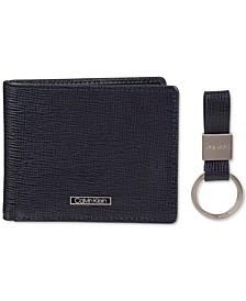 Men's Saffiano Slimfold Wallet with Key Fob