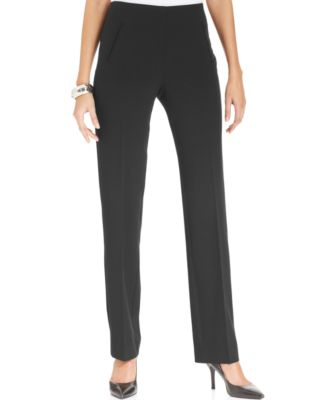 Image of Style & Co Tummy-Control Pull-On Straight-leg Pants