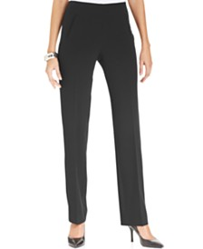22c67c7d34f Style   Co Tummy-Control Pull-On Straight-leg Pants