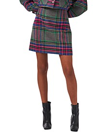 Plaid Mini Skirt, Created for Macy's