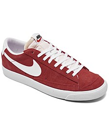 Men's Blazer Low 77 Suede Casual Sneakers from Finish Line