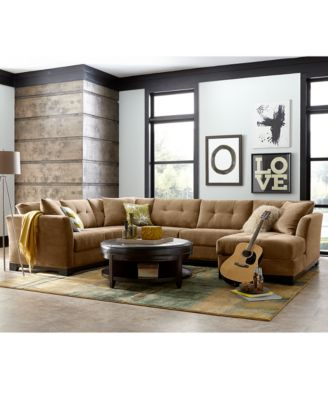 Elliot Fabric Sectional Living Room Furniture Collection, Created For  Macyu0027s   Furniture   Macyu0027s