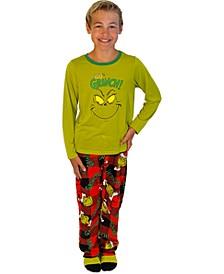 Matching Little & Big Boys 3-Pc. Grinch Family Pajama Set