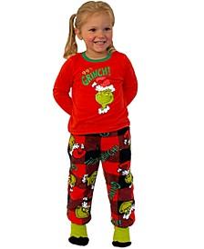 Matching Toddler Girls 3-Pc. Grinch Family Pajama Set
