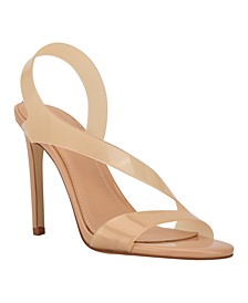 Women's Ferry Asymmetrical Lucite Clear Dress Sandals