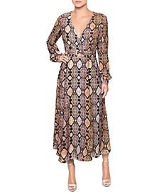 Printed Fit & Flare Midi Dress