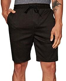 "Men's Slim-Fit Stretch Textured Stripe-Print 9"" Drawstring Shorts"