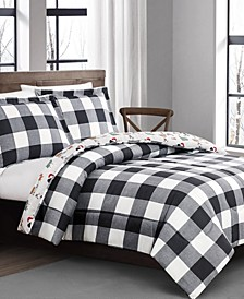 Buffalo Plaid and Dogs Comforter Sets, Created for Macy's