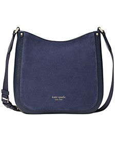 Roulette Suede & Leather Small Messenger Bag
