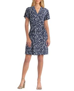 Women's Short Sleeve V-Neck Dress