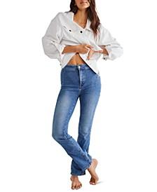 Cross My Heart Straight-Leg Jeans