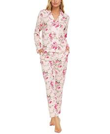 Tammy Notch Collar Top & Pants Pajama Set