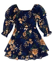 Big Girls Floral-Print Ruffle Dress