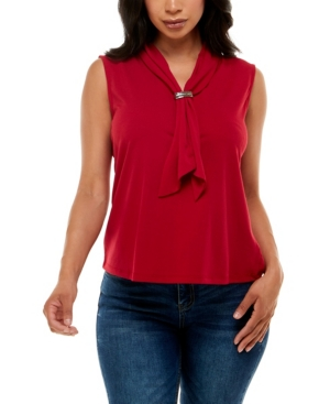 Women's Sleeveless Top with Draped Scarf