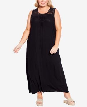 Plus Size Holly Crochet Maxi Dress