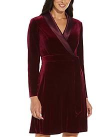 Velvet Tuxedo Dress