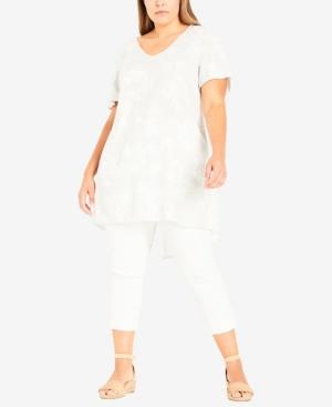 Plus Size Linen Mix Tunic Top