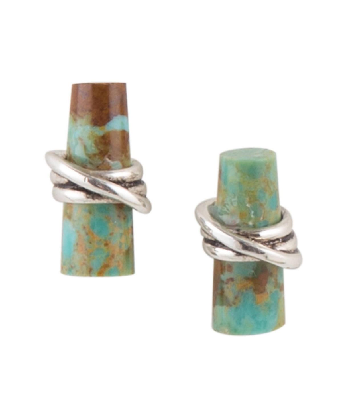 Barse Criss Cross Stud Earrings