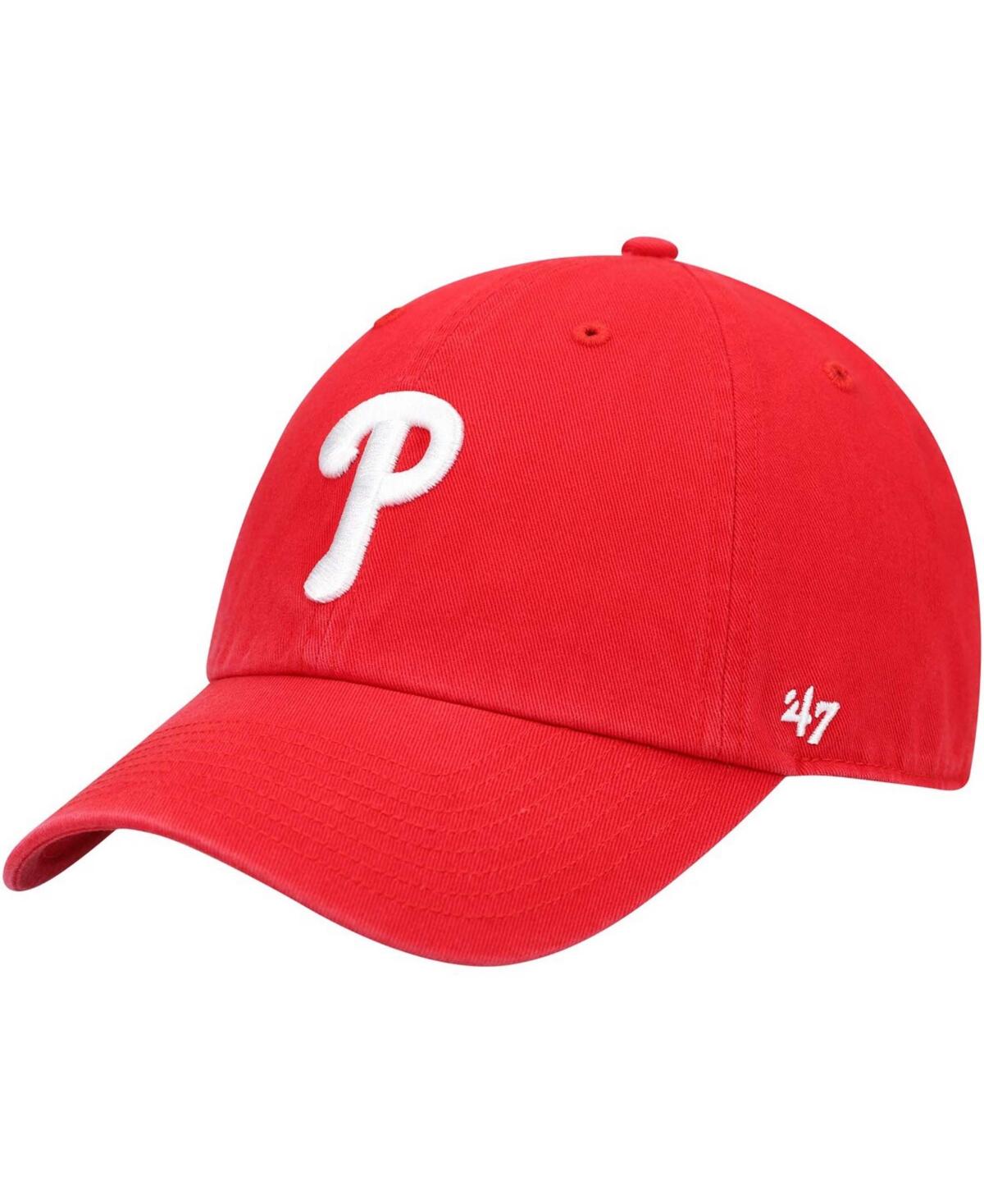 47 Brand Mens Philadelphia Phillies Game Clean Up Cap
