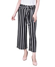 Women's Cropped Pull On with Sash Pants