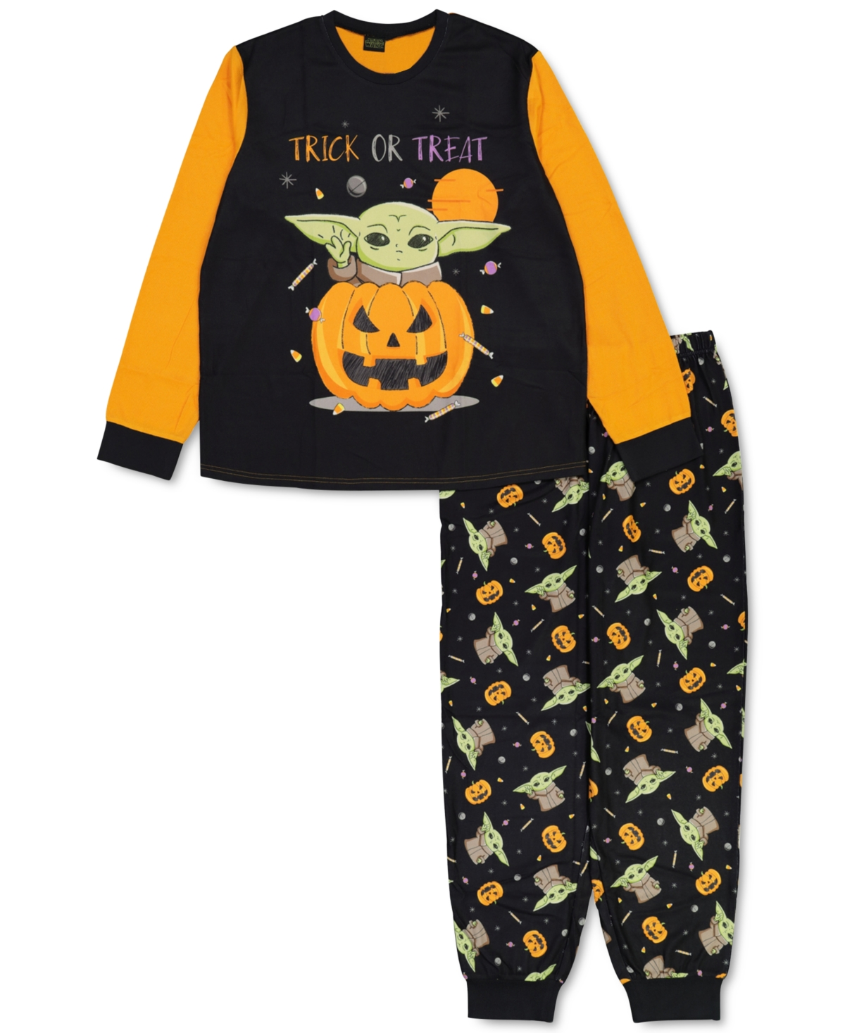 Briefly Stated Matching Unisex Star Wars Yoda Trick Or Treat Family Pajama Set