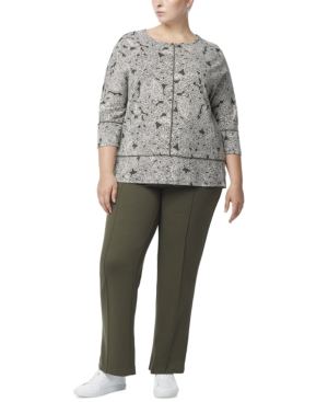 Plus Size Printed Serenity Knit Tunic