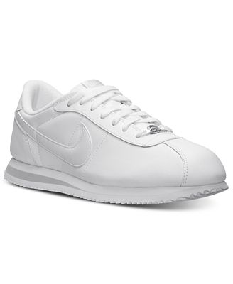 nike men's cortez basic leather casual sneakers from