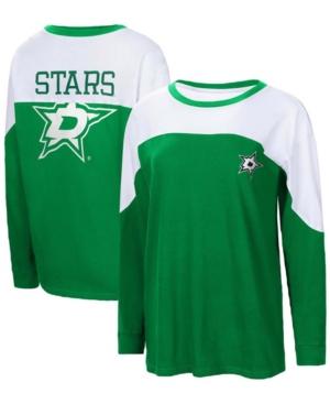 Women's Kelly Green Dallas Stars Pop Fly Long Sleeve T-shirt