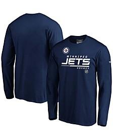 Men's Navy Winnipeg Jets Authentic Pro Core Collection Prime Long Sleeve T-shirt
