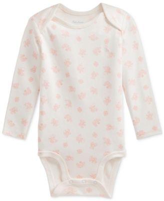 폴로 랄프로렌 Polo Ralph Lauren Baby Girls Bear-Print Cotton Interlock Bodysuit,Pink Multi