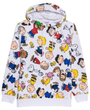 Men's Peanuts All Over Print Hooded Fleece Sweatshirt