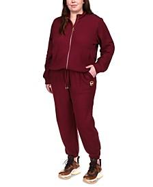 Plus Size Zip-Front Sweatshirt & Sweatpants