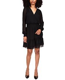 Ruffled Faux-Wrap Dress, Regular & Petite