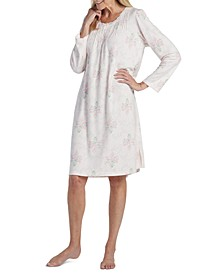Printed Knit Short Nightgown