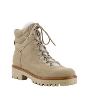Women's Mallie Lug Sole Sherpa Booties Women's Shoes