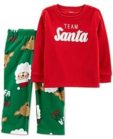 Baby Boys or Girls 2-Pc. Santa Pajamas