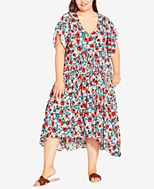 Plus Size Val Print Dress