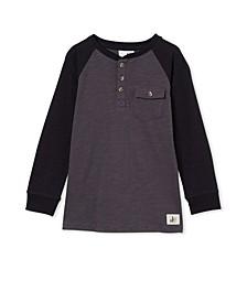 Toddler Boys Hunter Henley Slub T-shirt