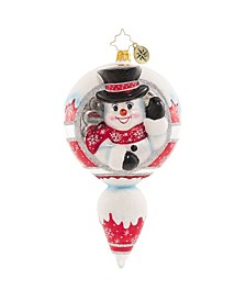 a Frosty Hello Ornament