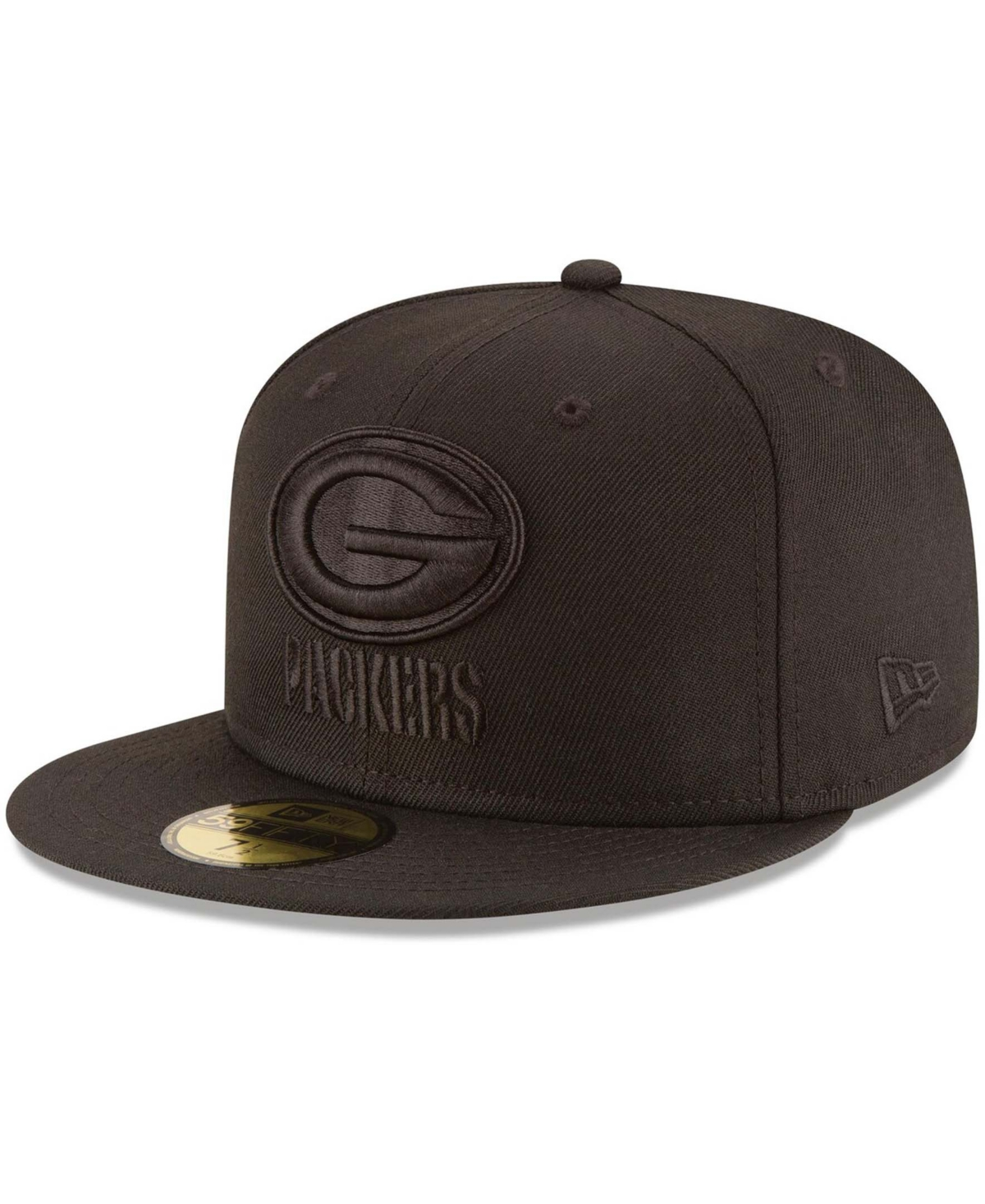 Men's Green Bay Packers Black on Black 59FIFTY Fitted Hat