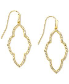 Cubic Zirconia Small Open Frame Drop Earrings