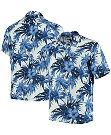 Men's Royal Kentucky Wildcats Harbor Island Hibiscus Button-Up Shirt