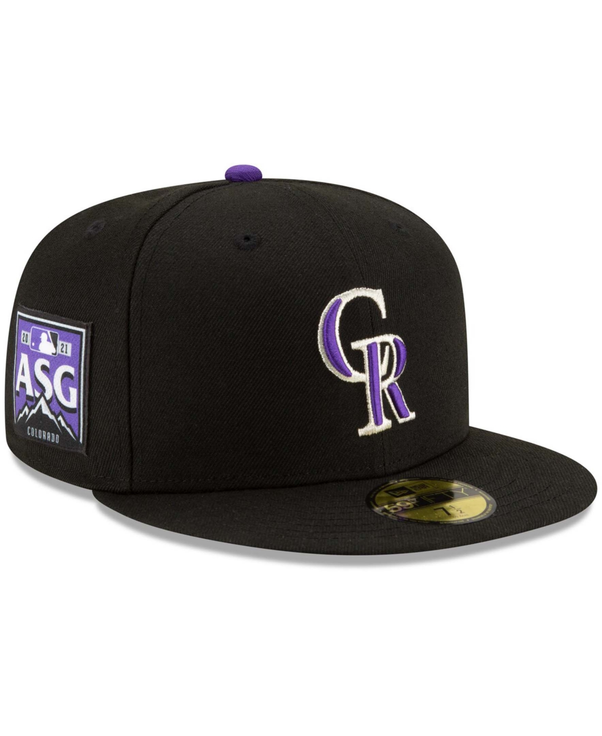 Men's Black Colorado Rockies 2021 Mlb All-Star Game Authentic Collection On-Field 59FIFTY Fitted Hat
