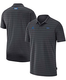 Men's Big and Tall Jordan Brand Anthracite Ucla Bruins Victory Coach Performance Polo