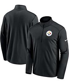 Men's Black Pittsburgh Steelers Pacer Performance Quarter-Zip Jacket