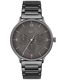 Men's Lacoste Club Gray-Tone Stainless Steel Bracelet Watch 42mm